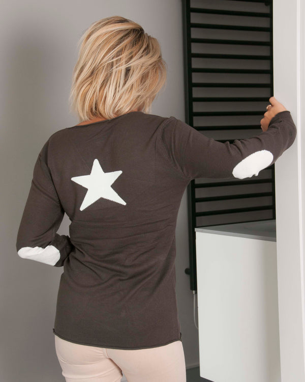 CECILE STAR JUMPER IN KHAKI
