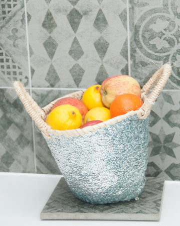 LITTLE GOLD/SILVER SEQUIN BASKET