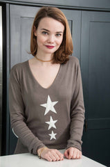 taupe three star jumper
