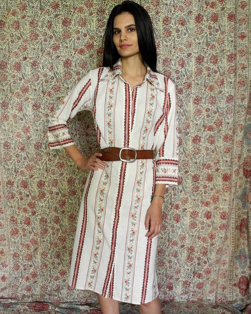 MAGGIE SHIRTDRESS IN RED