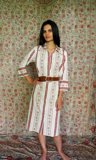MAGGIE SHIRT DRESS IN RED