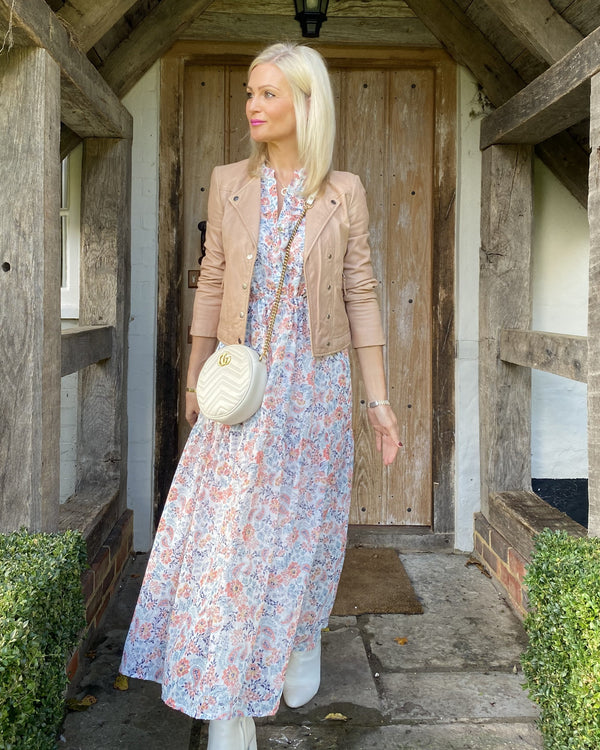 MELINDA MAXI DRESS IN APRICOT
