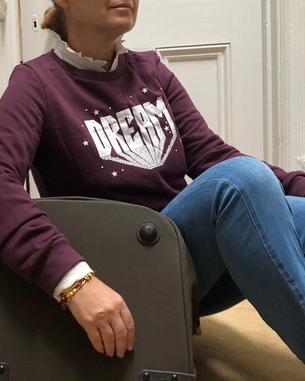 DREAM SWEATSHIRT BURGUNDY