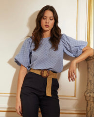 CLEMENTIN TOP IN BLUE