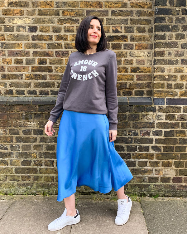 ELISE MIDI SKIRT IN BLUE