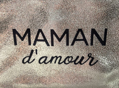 MAMAN D'AMOUR PURSE IN GLITTER GOLD