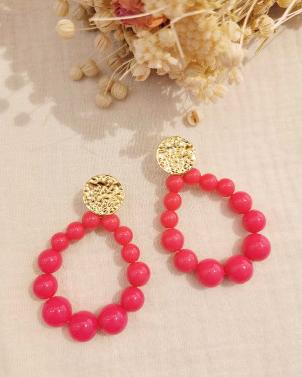 MADDY EARRINGS IN FUSCHIA