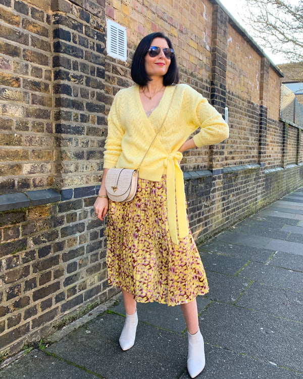 MADELEINE MIDI SKIRT IN YELLOW