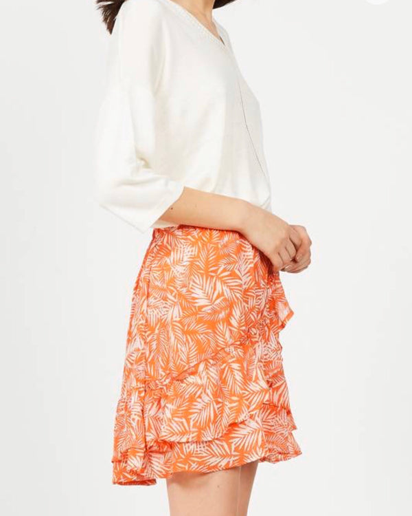BORA BORA MINI SKIRT IN ORANGE