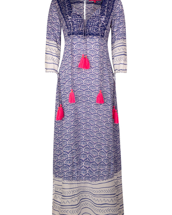 BAHIA MAXI DRESS IN BLUE