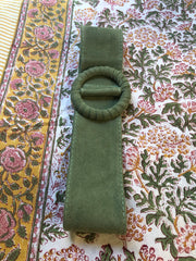 SUEDE BELT IN SOFT MINT