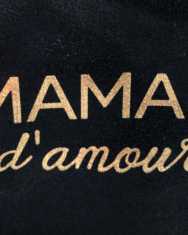 MAMAN D'AMOUR PURSE IN GLITTER BLACK