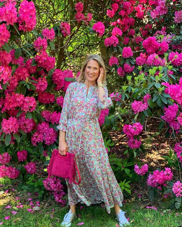 MELINDA MAXI DRESS ROSE FLORAL