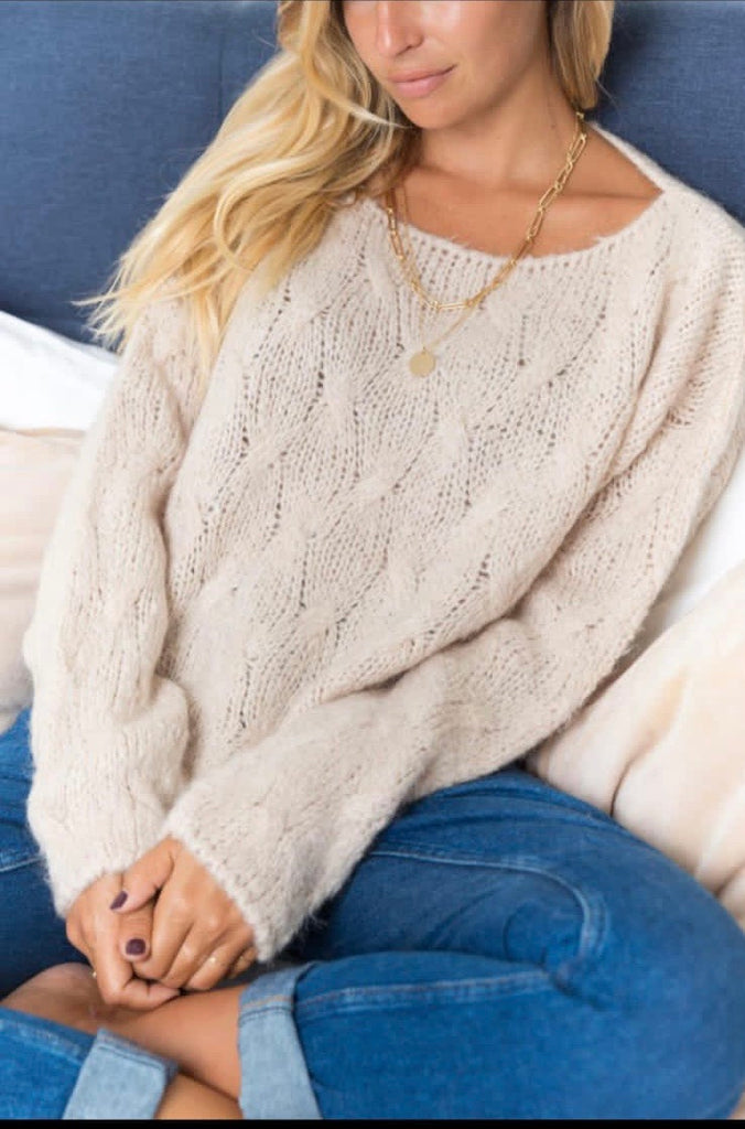 CHUNKY KNIT IN CREAM