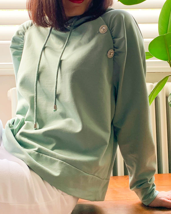 BATISTE SWEATSHIRT IN SAGE