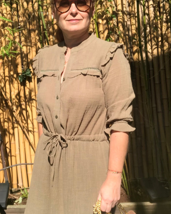 MELINDA MAXI DRESS IN KHAKI