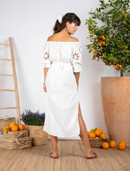 PAULA MAXI DRESS IN WHITE