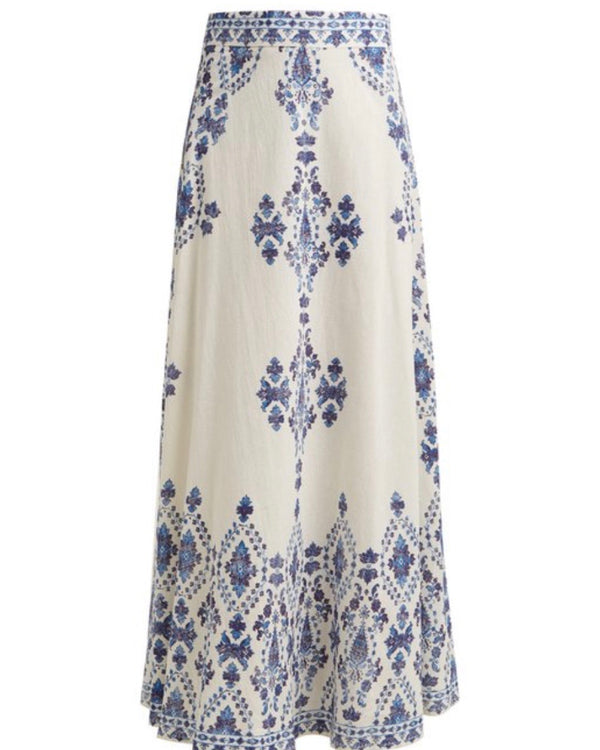 ANATOLIA MAXI SKIRT IN BLUE - PRE ORDER