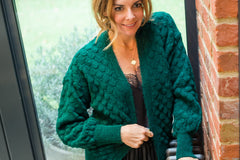 LISBON CARDI IN FOREST GREEN