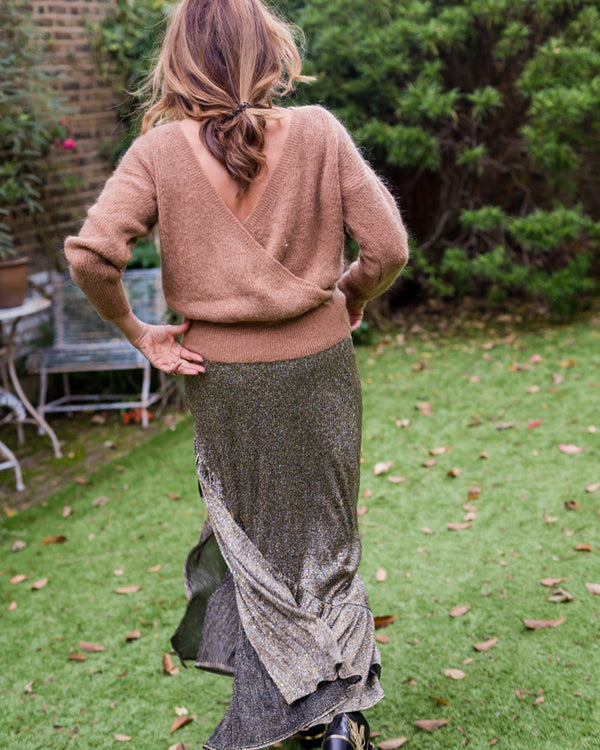 JULIE JUMPER IN TAUPE