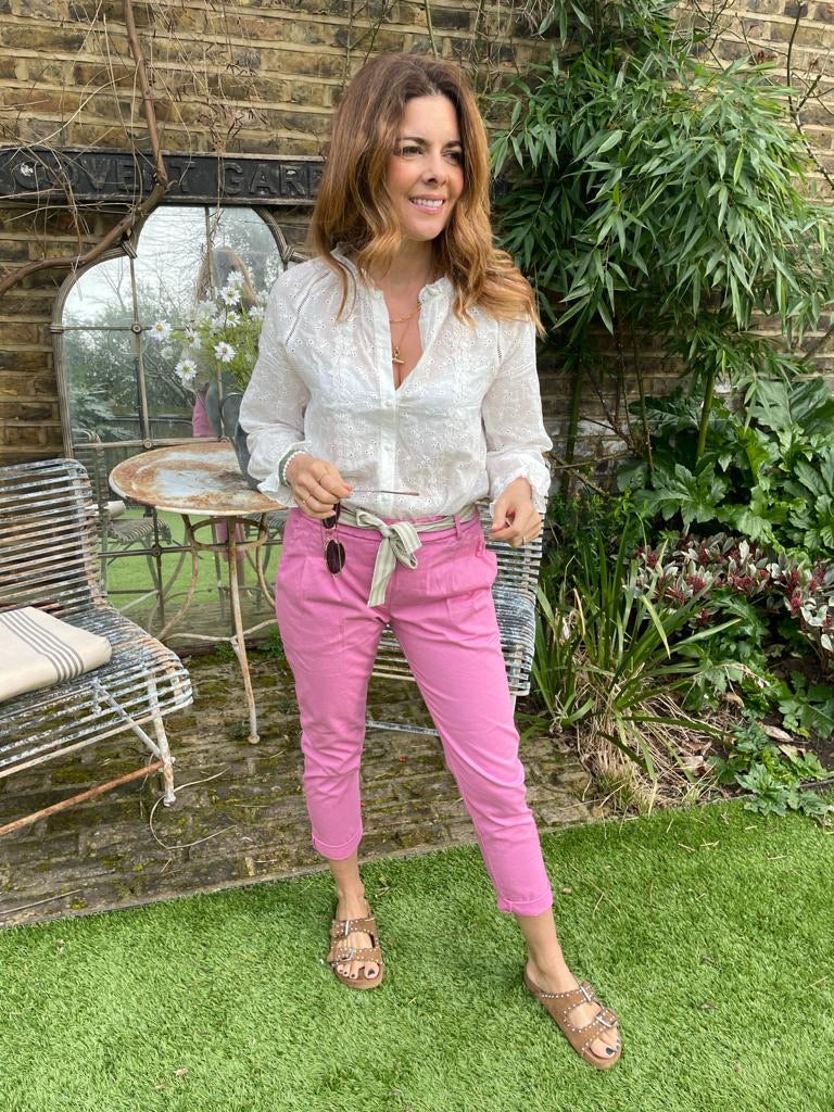 EFFIE TROUSERS IN BUBBLEGUM