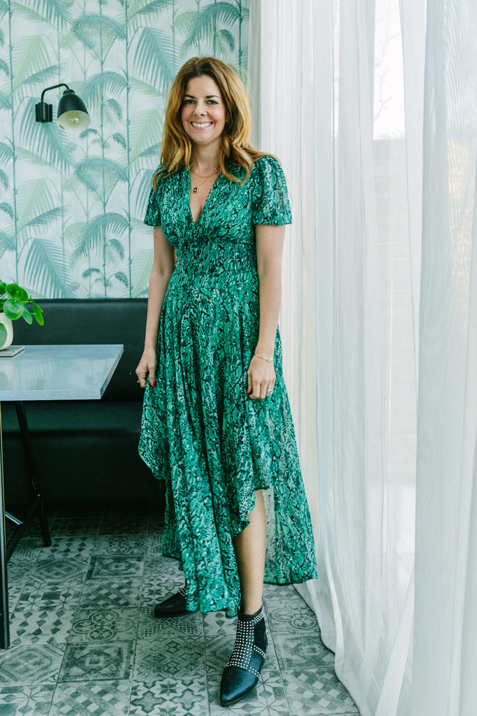 MAEVA MAXI DRESS IN EMERALD GREEN