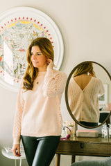 VIRGINIE CARDIGAN IN SOFT PINK