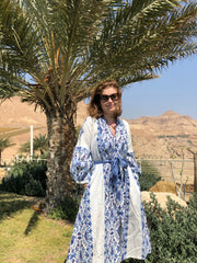ANATOLIA DRESS IN BLUE