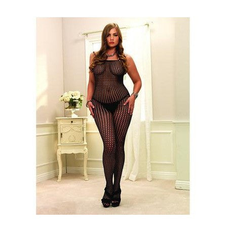 Crochet Net Bodystocking Black - Queen Size