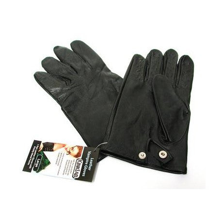 Leather Vampire Gloves With Prickly Metal Points