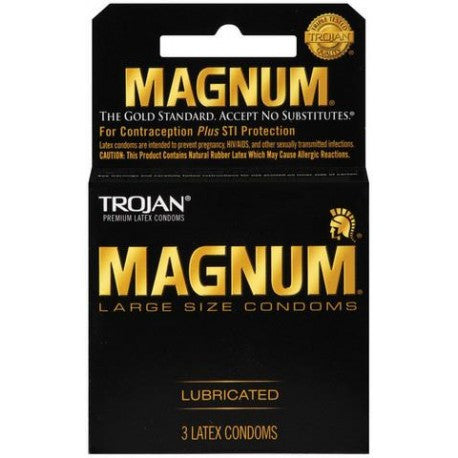Trojan Magnum Large Size Condoms - 3 Pack