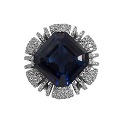 10 Carat Synthetic Sapphire Cubic Zirconia Ring
