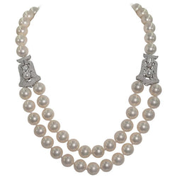 Audrey Hepburn Style Synthetic Pearl Cubic Zirconia Necklace