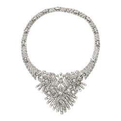 Rare Art Deco Faux Diamond Magnificent Necklace by Mazer