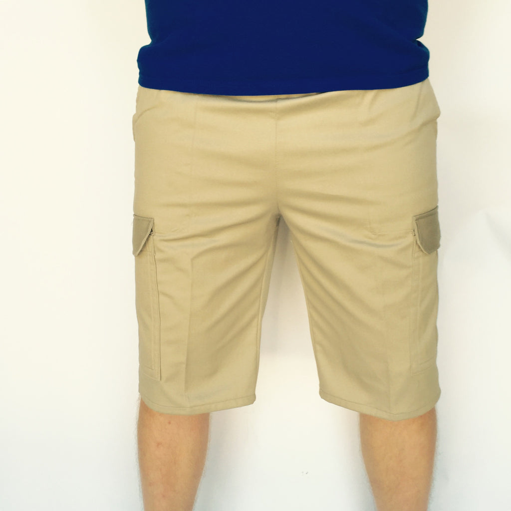 Fleece cargo shorts feature elastic waistband for a customizable fit. Full elastic waistband with inside drawstring Side slant pockets Side cargo. Fleece cargo shorts feature elastic waistband for a .
