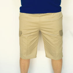 Men's Elastic Waist Cargo Shorts