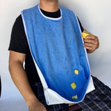 Adult Bib Terry Clothing Protector with Catchall # TC3836