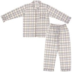 Men's L/S Brodcloth Pajama Jumpsuit with Zipper and Velcro (R) closure