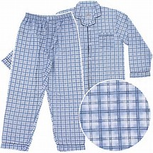 Men's Long Sleeve Broadcloth Pajama Jumpsuit  #601JZ