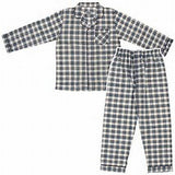 Men's Long Sleeve Broadcloth Pajama Jumpsuit With Zipper
