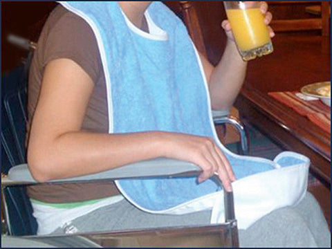 Terry Cloth Mealtime Protector W/Vinyl Backing # TC3836