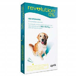 Anti Pulgas E Carrapatos Revolution 12% Para Cães De 20 A 40 Kg - 240 Mg 1 Ampola