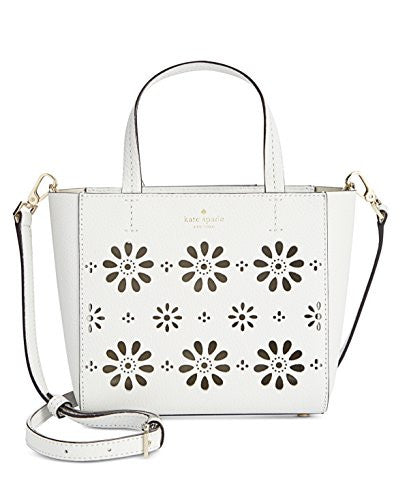 KATE SPADE Faye Drive Small Hallie Perforated Crossbody - White