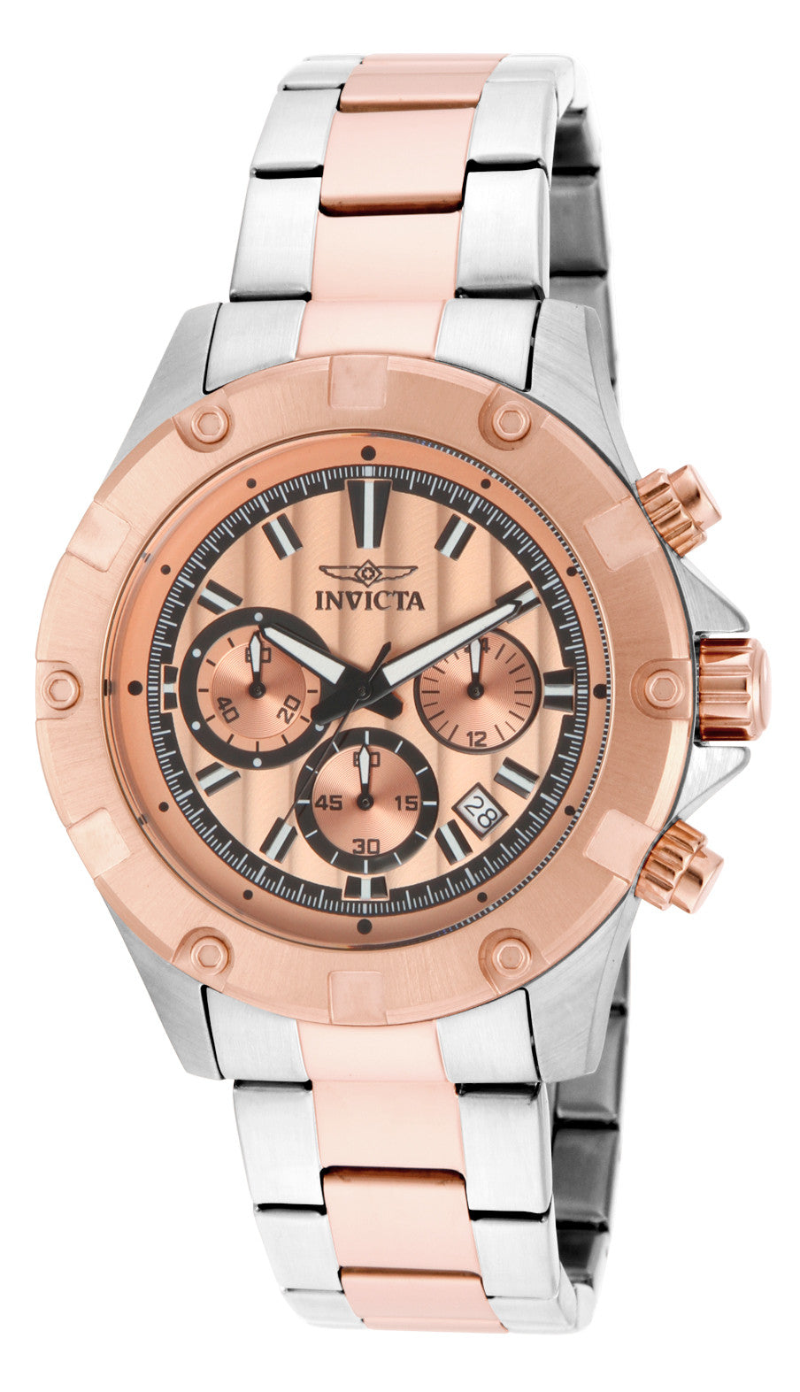 Invicta Men's 15605 Specialty Quartz Chronograph Rose Gold Dial Watch