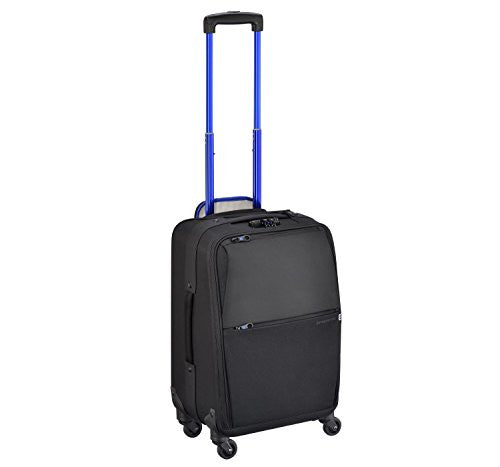 ZERO HALLIBURTON New York Greenwich 22-inch Black Carry On Spinner Suitcase