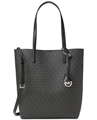 MICHAEL KORS Hayley North South Black and Grey PVC Tote Bag