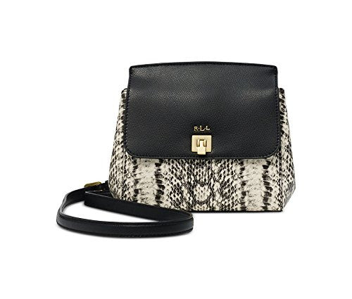 RALPH LAUREN Whitby Snake-Embossed Crossbody Handbag