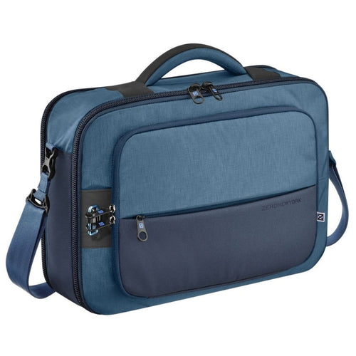 ZERO HALLIBURTON New York Blue Convertible 3-way Business Brief
