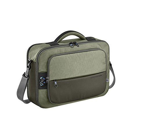 ZERO HALLIBURTON New York Khaki Convertible 3-way Business Brief