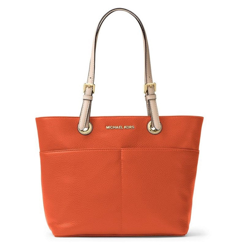 Michael Kors Bedford Pocket Tote Leather, Clementine